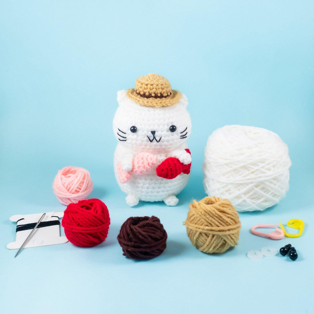 Fisherman Cat Amigurumi Kit