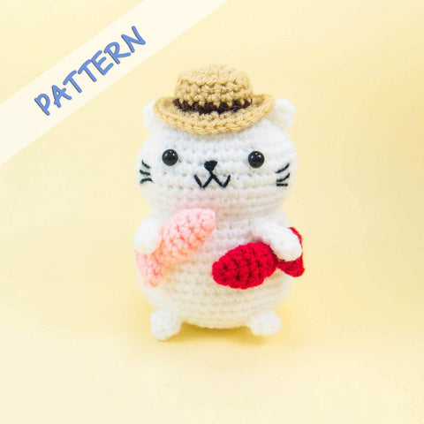 Fisherman Cat Amigurumi Pattern