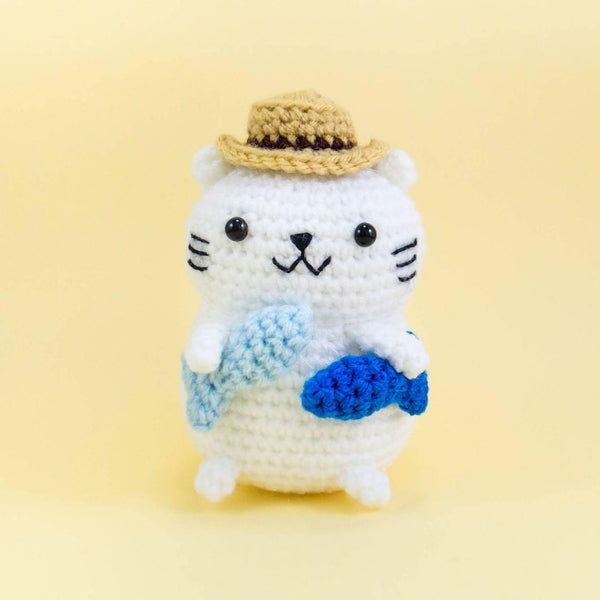 Crochet Cat Amigurumi for Nursery Decor