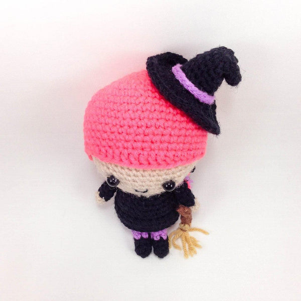 Amigurumi Witch Pattern for Halloween top view