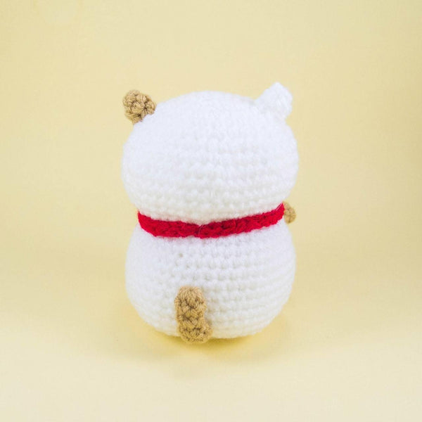 Meneki neko Crochet Toy Back View