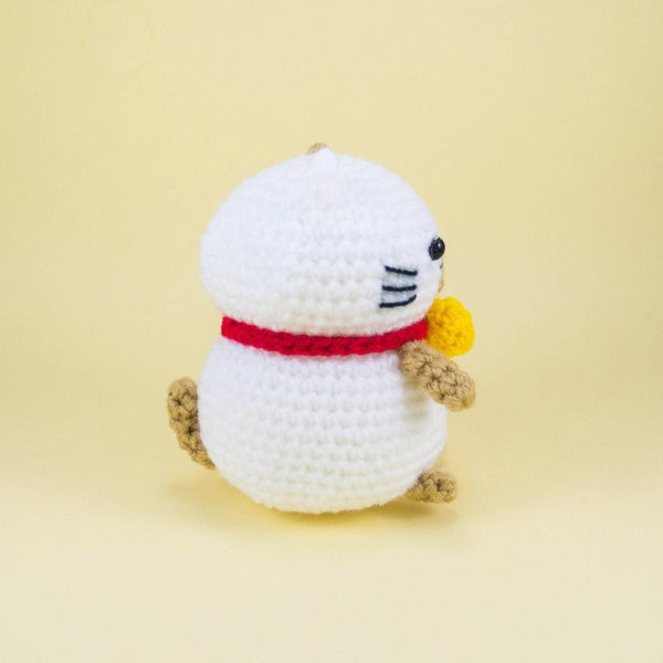 Lucky Cat Amigurumi Pattern Snacksies Handicraft