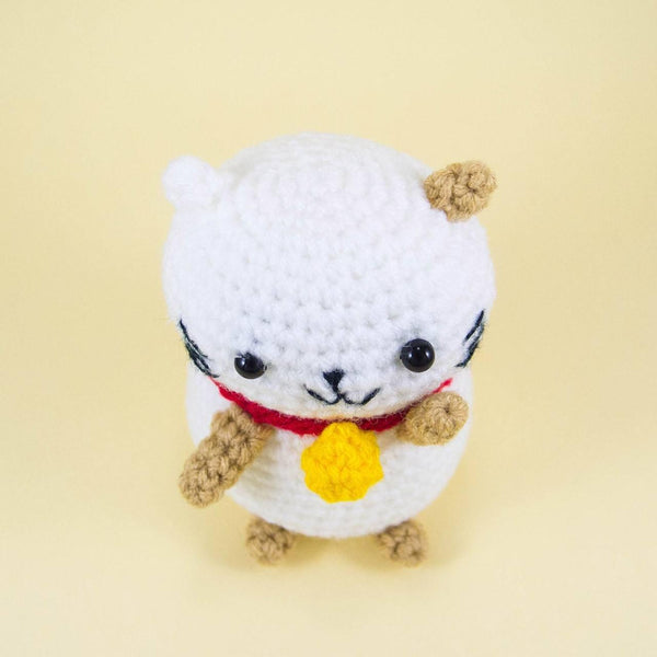 Lucky Cat Stuffed Animal Top View