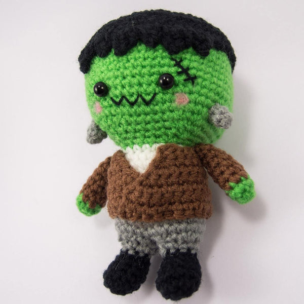 Crochet Frankenstein Plush for Halloween Decor