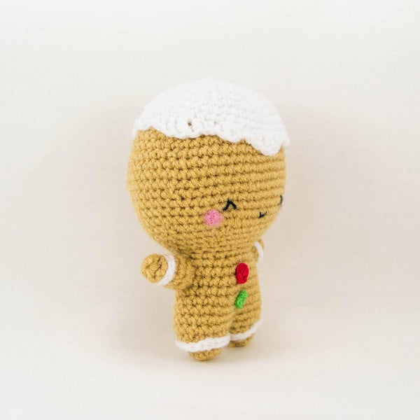 Gingerbread Man Crochet Toy Christmas Ornament