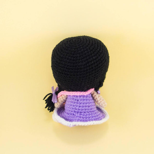 Handmade Doll with Plaits Back View