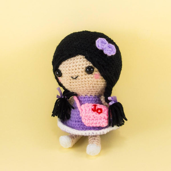Amigurumi Doll with Customized Bag Side View