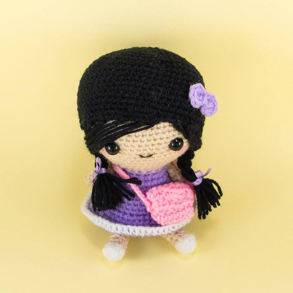 Doll Amigurumi with Plaits and Bag