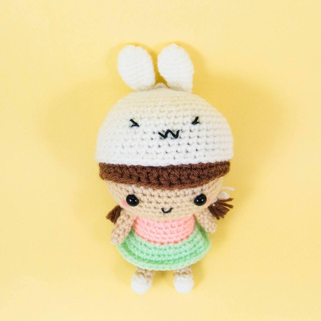 Amigurumi Bunny Girl : Girl with Bunny Hat Amigurumi Pattern Snacksies Handicraft