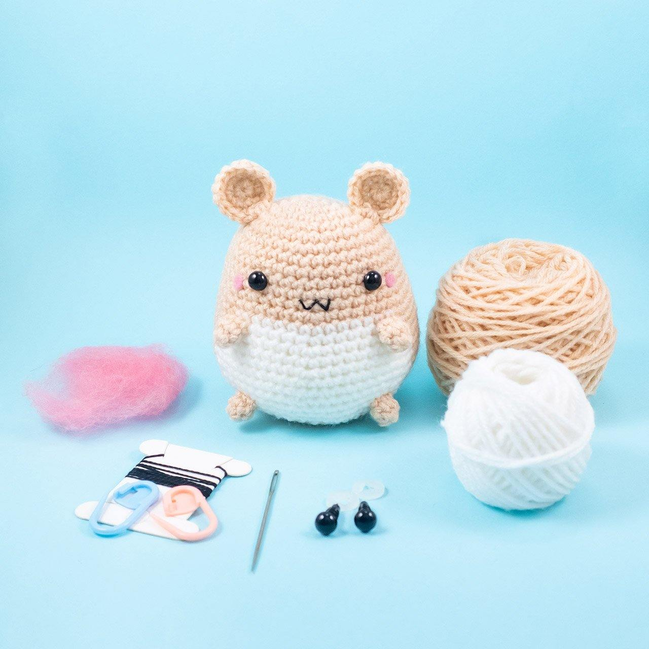 FREE Tiny Amigurumi Hamster Pattern - Fun Crafts Kids | 1280x1280