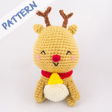Load image into Gallery viewer, Jingle the Reindeer Amigurumi Pattern of Christmas Set