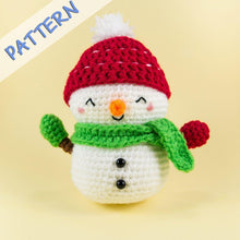 Load image into Gallery viewer, Jolly the Snowman Amigurumi Crochet Pattern of Christmas Set