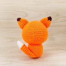 Load image into Gallery viewer, Crochet Fox Plush For Room Decor Back View