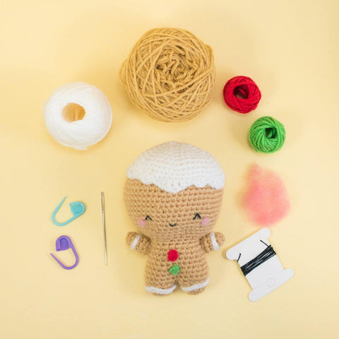 Ginger the Gingerbread Man Amigurumi Kit