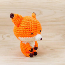 Load image into Gallery viewer, Fox Crochet Toy Side View