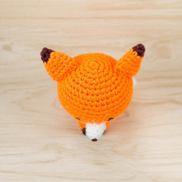 Crochet Fox Plush for Desk Decor Top View