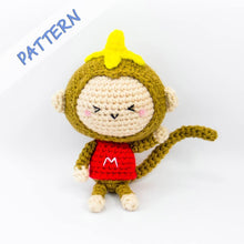 Load image into Gallery viewer, Monkey Amigurumi Pattern