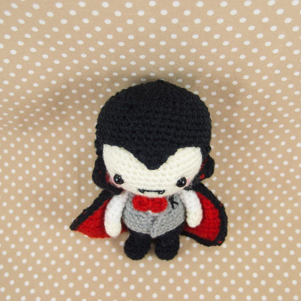 Crochet Vampire Doll Top View