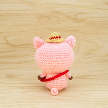 Load image into Gallery viewer, Pig Crochet Pattern - back