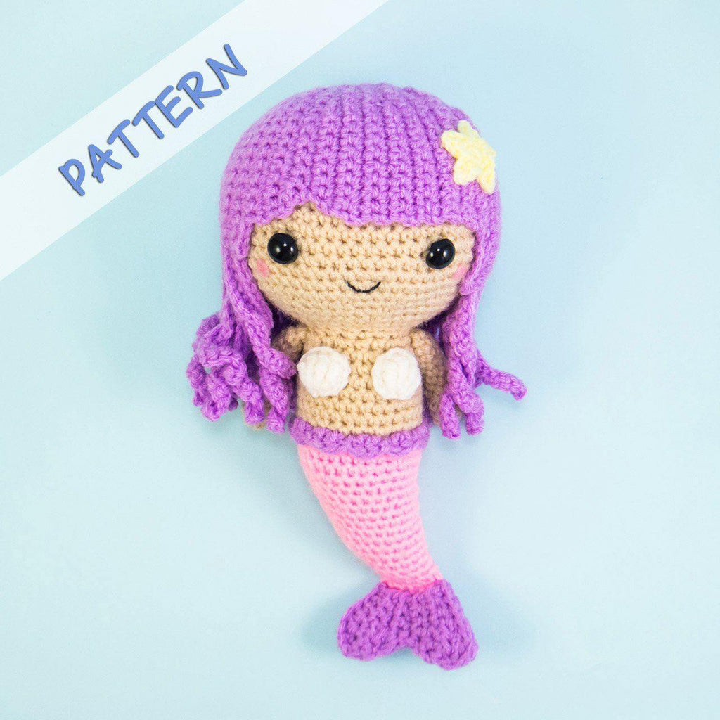 Mermaid Doll Amigurumi Pattern Snacksies Handicraft