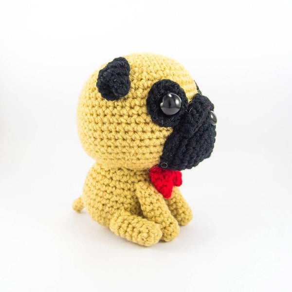Crochet Pug Plush Pattern Side View