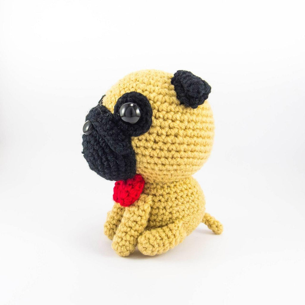 Pug with Bowtie Amigurumi Crochet Pattern – Snacksies Handicraft