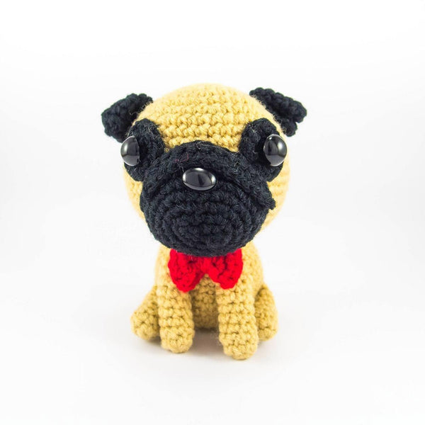 Crochet Pug Amigurumi For Desk Decor