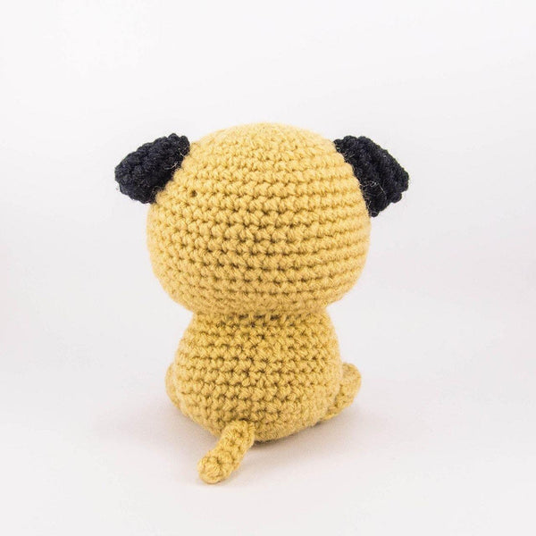 Crochet Dog Amigurumi Doll Back View