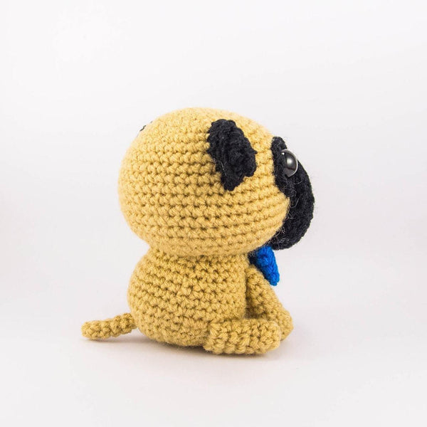 Amigurumi Dog Crochet Plush Side View