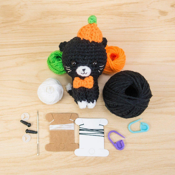 Pumpkin the Cat amigurumi kit