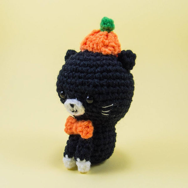 Halloween Cat Crochet Toy Side View