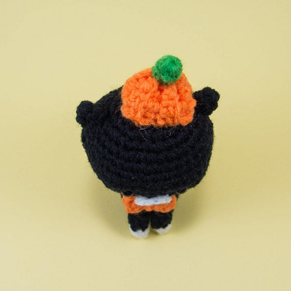 Halloween Cat Stuffed Animal Top View