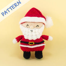 Load image into Gallery viewer, Christmas Set Crochet Pattern Santa Claus Amigurumi