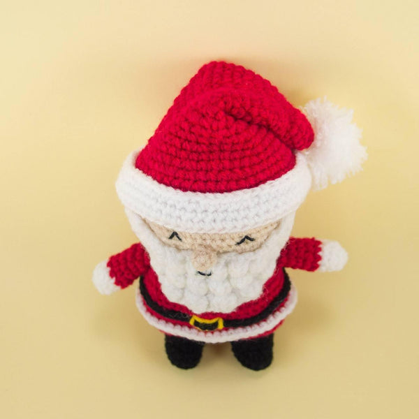 Crochet Santa Ornament for Holiday Decor