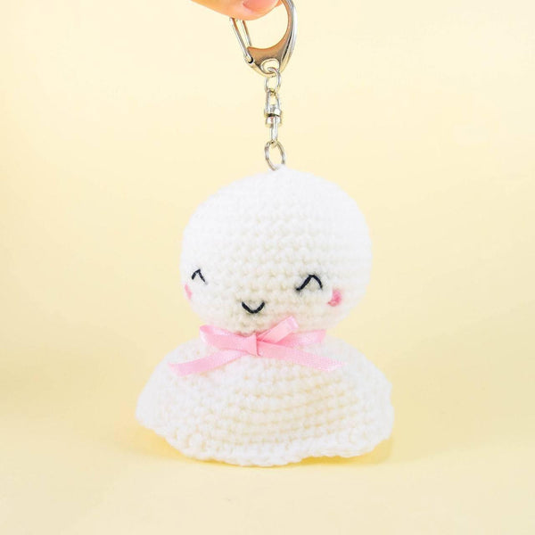 Stuffed Teru Teru Bozu with Key Chain