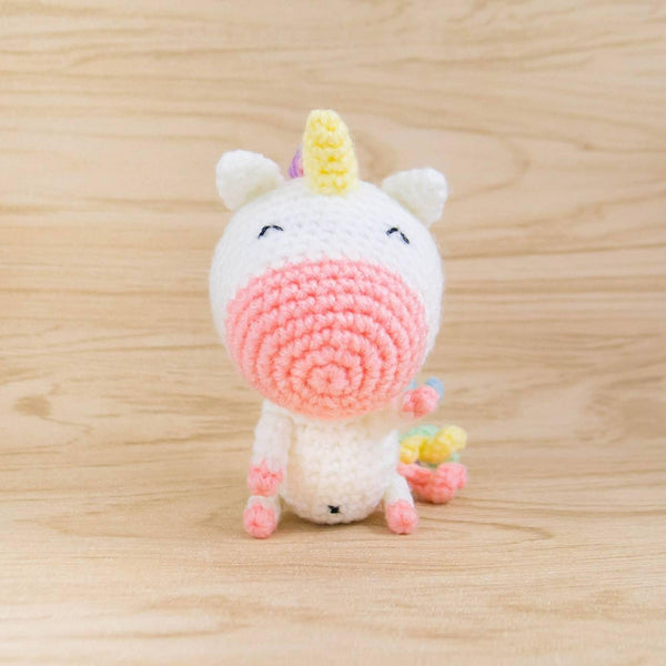 Crochet unicorn plush