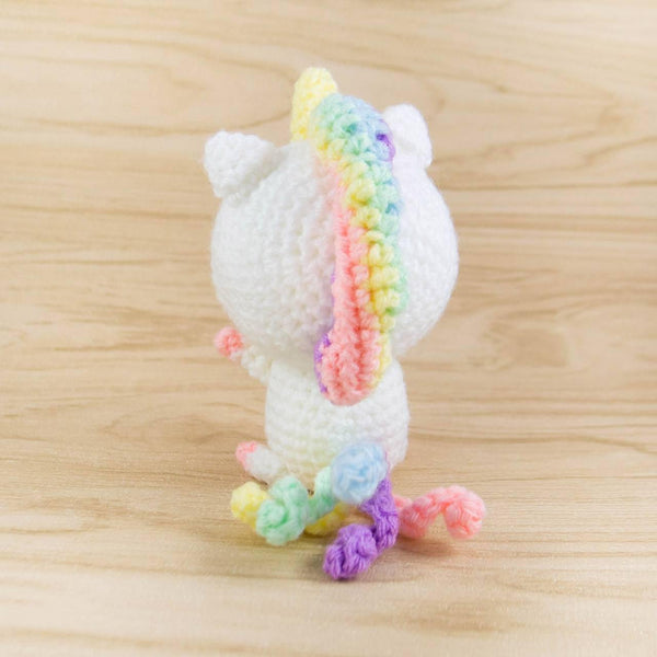 unicorn stuffed animal back
