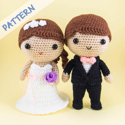 Bride and Groom Crochet Amigurumi Pattern