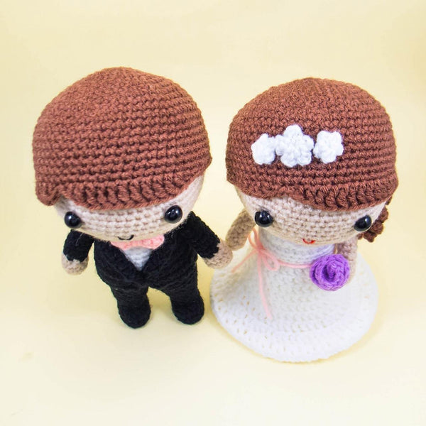 Wedding Crochet Dolls Pattern