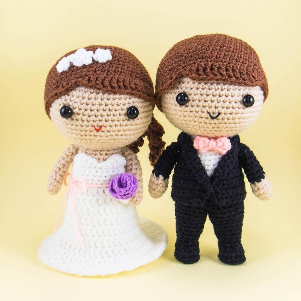 Wedding couple amigurumi
