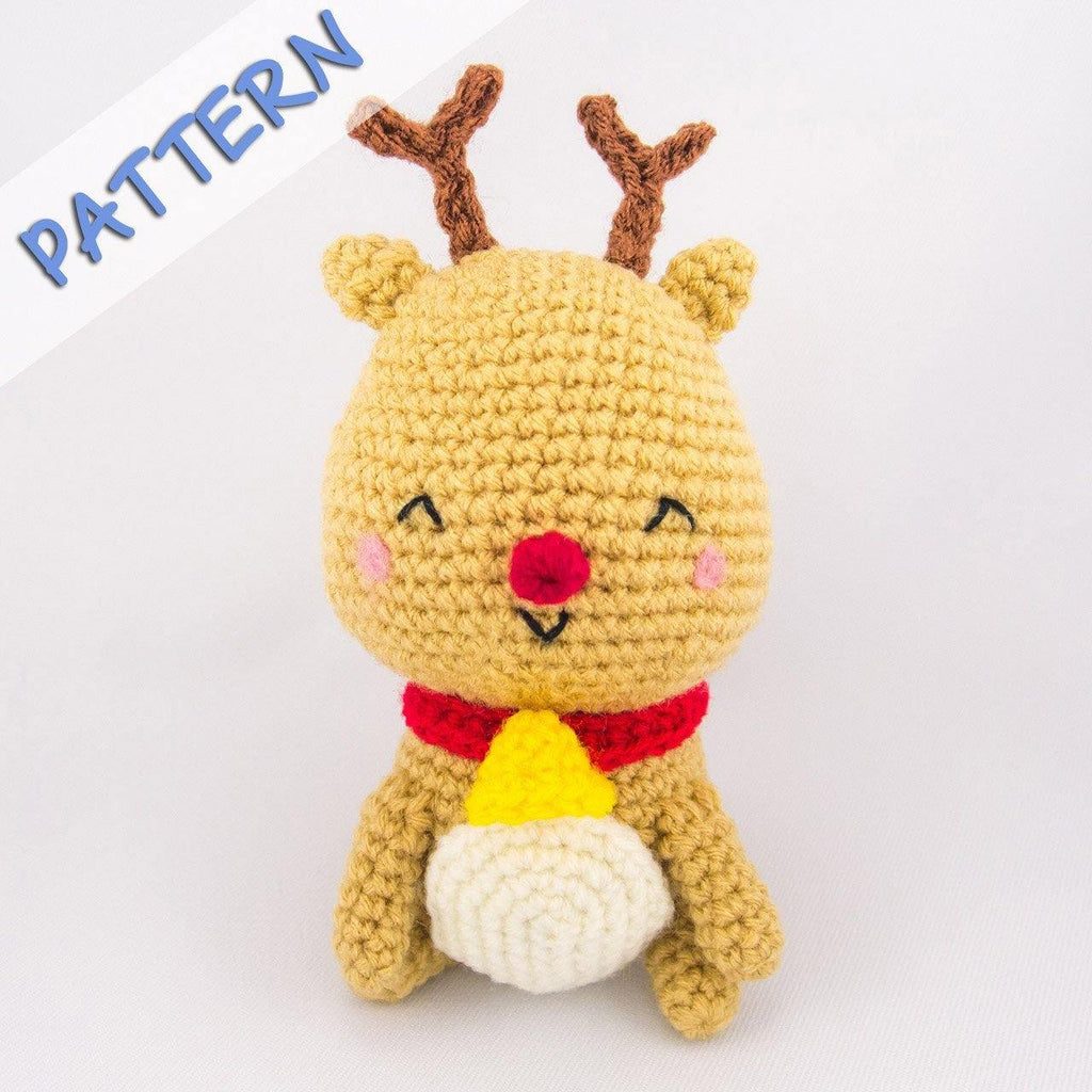 Jingle the Reindeer Crochet Amigurumi Pattern – Snacksies Handicraft