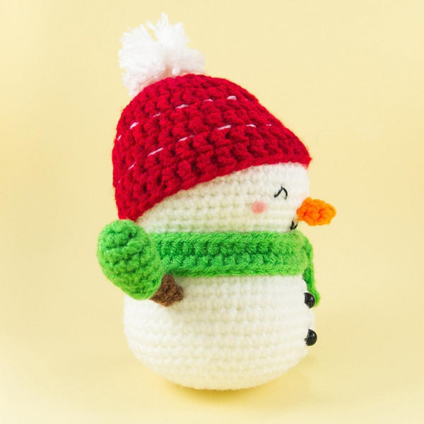 Christmas Crochet Snowman Pattern Side View