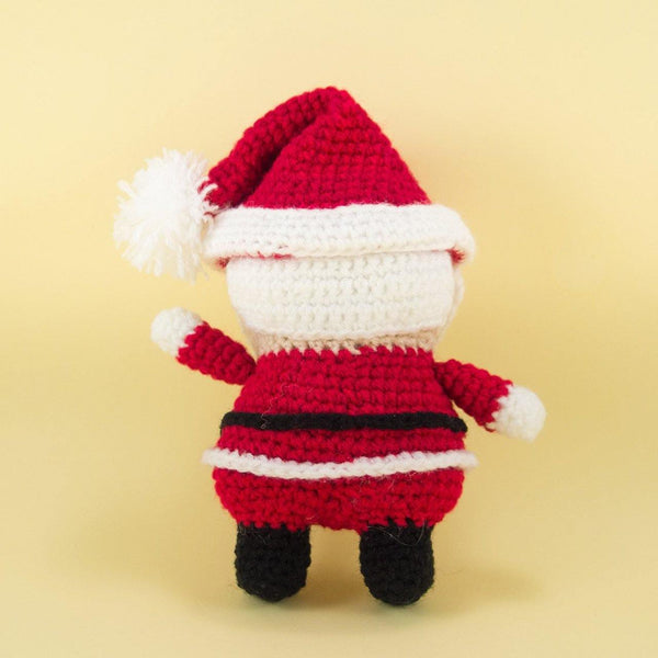 Santa Claus Doll Pattern for Christmas Decor Back View