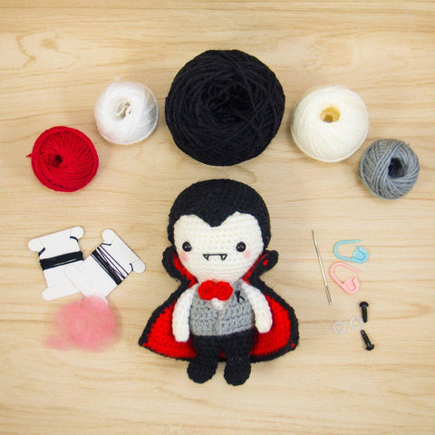Mr K the Vampire Amigurumi Kit