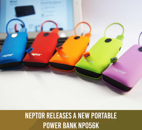 Neptor Releases a New Portable Power Bank NP056K (Feb.20.2014)