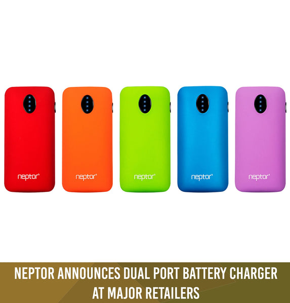 Neptor Announces Dual Port Battery Charger at Major Retailers (Feb.14.2014)