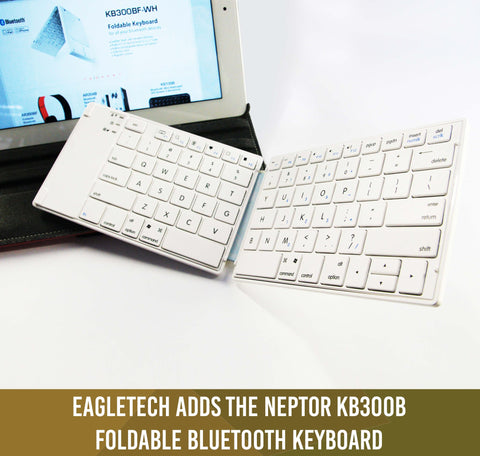 EagleTech adds the Neptor KB300B Foldable Bluetooth Keyboard to its line of iPad accessories (Apr.07.2013)