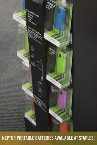 Neptor Portable Batteries Available at Staples! (Jan.11.2013)