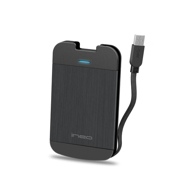 Drive Enclosures - SATA III To USB 3.0 External Drive Enclosure With Integrated USB Cable For 2.5-inch SSD And HDD