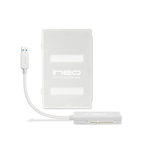 USB 3.0 to SATA III Cable and Protection Case for 2.5-inch SSD and HDD Tool Free and USB Powered